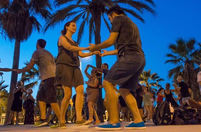 Bailando Swing en Poblenou